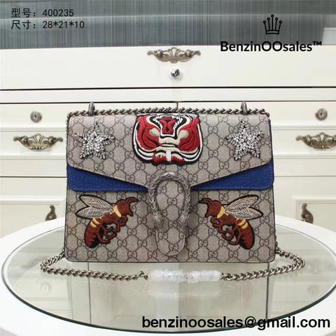 NEW GG replica women handbag with embored patches and silver snake buckle -yeezy boostv2-ua-hypebeast-designer replicas clothing