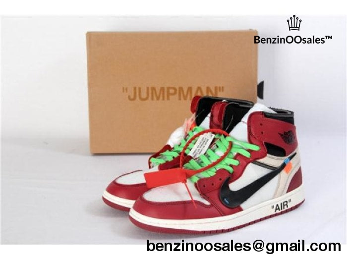 OFF-WHITE X NIKE AIR JORDAN 1 HIGH MENS SNEAKERS – BenzinOOsales 9148cf3545c1