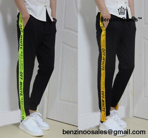 Off-white yellow tape sweatpants -yeezy boostv2-ua-hypebeast-designer  replicas 7a3dd021a