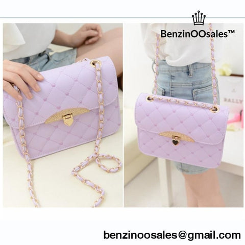 Purple Messenger Handbag