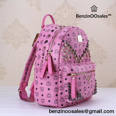 Purple/pink Studded Mcm Backpack