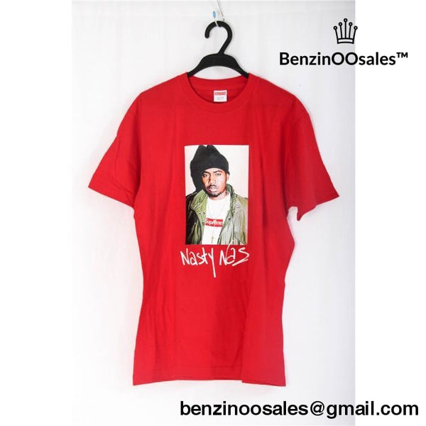 Red And Gray Replica Ua Supreme X Nas Tshirt