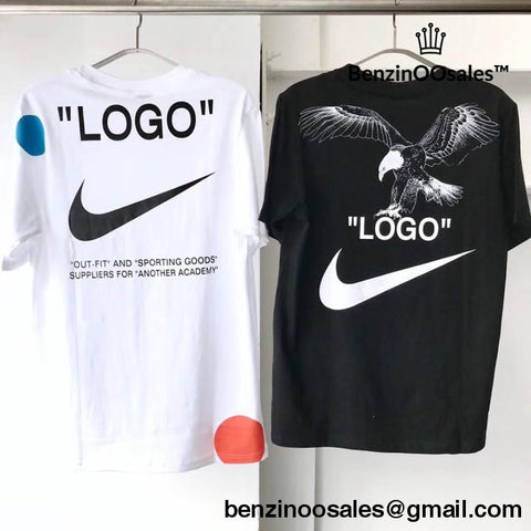Replica Off White X Nike Football Collab Tshirt (Black And White)