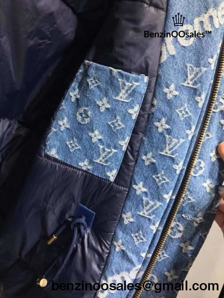 Replica Supreme Jacquard Denim (With Fur) N3B Parka Jacket