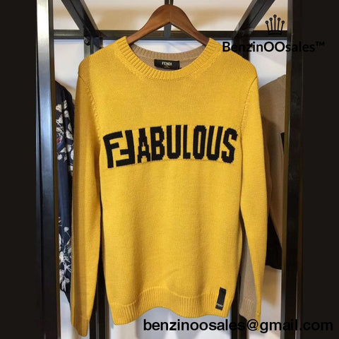 Replica Ua Fendi Fabulous Yellow Sweater