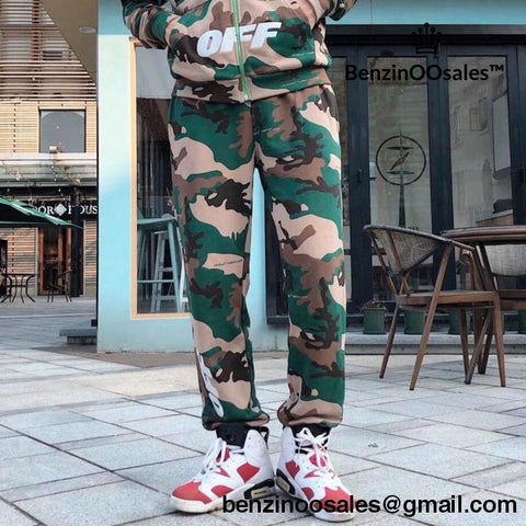 Replica Ua Off White Jogger Camo Tracksuit Pants