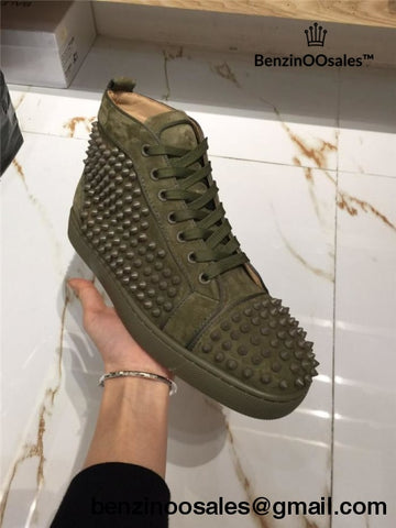 size 40 fbc89 bbcd6 top quality green christian louboutin sneakers e2cea 33ee3