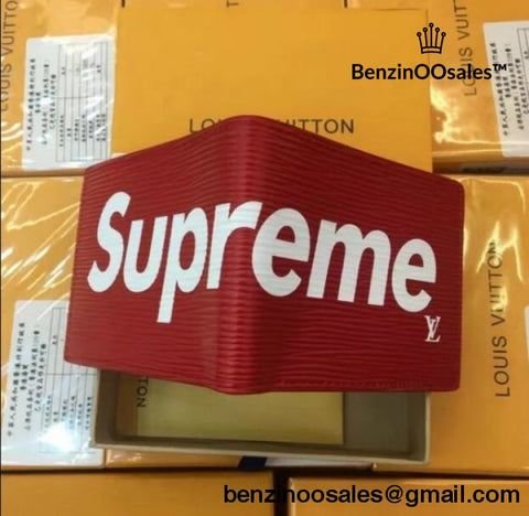 Supreme X Brand Leather Pm Wallet