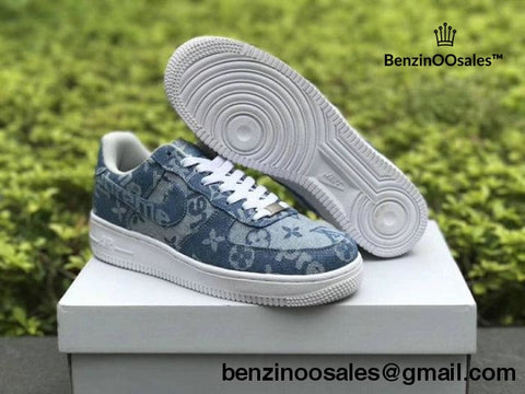 Supreme X Famous Brand Nike Jean Denin Air Force 1 Af1 Sneakers Replica