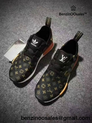 Supreme X Lv Adidas Nmds Monogram Brown