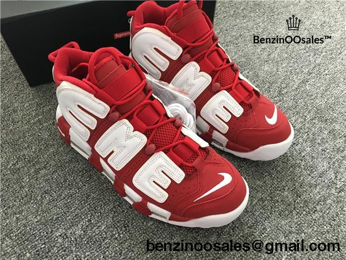 SUPREME X NIKE AIR MORE UPTEMPO SNEAKERS RED – BenzinOOsales ad2e2b0b9