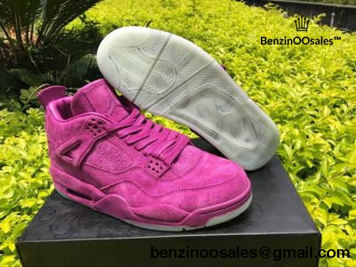 56bd0033ac711a ... greece ua jordan retro 4 x kaws purple and green suede a42f5 2743f