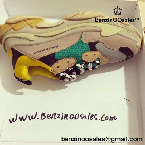 Ua Replica Balenciaga Triple S Replica Trainer Sneaker Shoe (Yellow Black Green And Desert Tan Brown