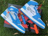 Ua Replica Blue Off-White X Nike Air Jordan 1 High Mens Sneakers