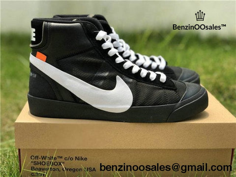 size 40 11242 6c9d9 black and white nike blazer high tops
