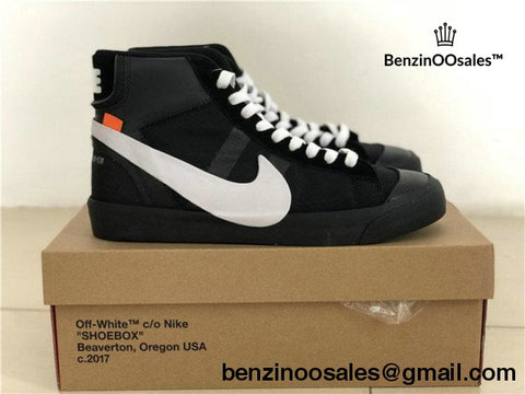 Ua Replica Off-White X Nike Blazer Hightop Black Colorway
