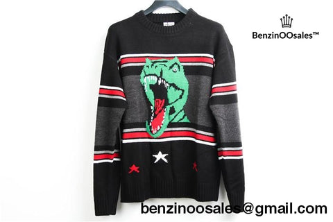 Ua Replica Yves Saint Laurent Dinosaur Lizard Three Star Sweater