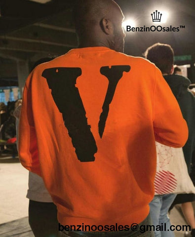 Vlone X Off White Long Sleeve Sweater Pullover
