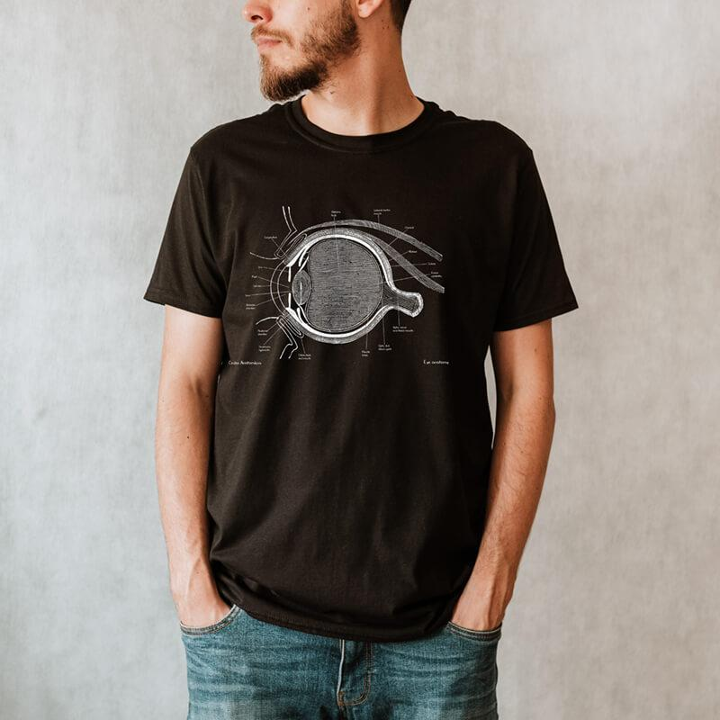 eye anatomy t-shirt for men by codex anatomicus