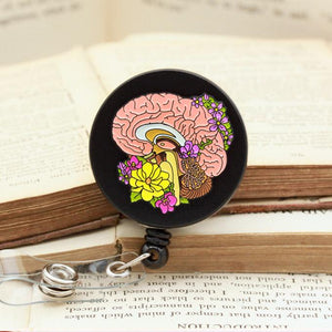 Brain badge reel