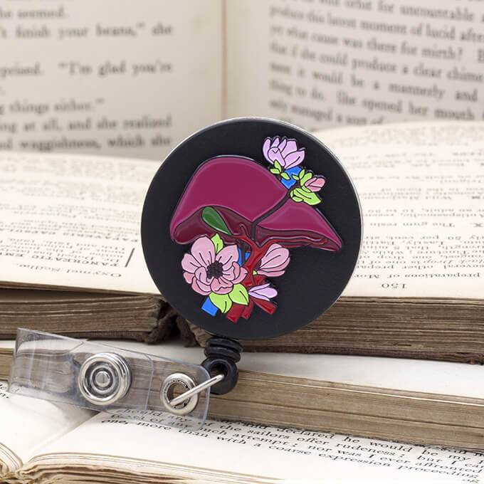 Liver badge reel