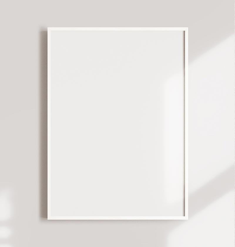 Premium picture frame - White color