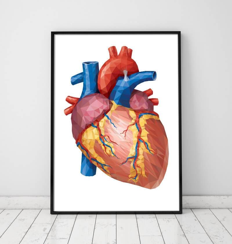 Geometrical Heart art poster