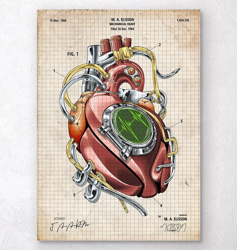 Mechanical heart blueprint