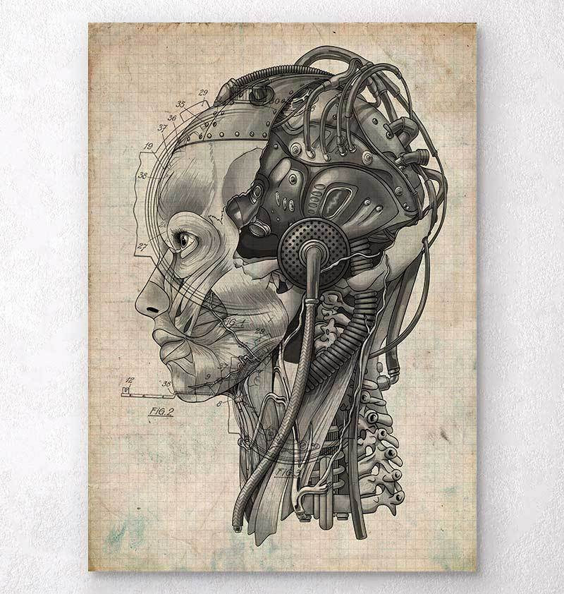 Steampunk brain implant blueprint