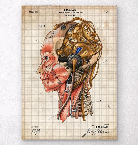 Old paper anatomy art codex anatomicus tagged blueprints patents steampunk art malvernweather Images