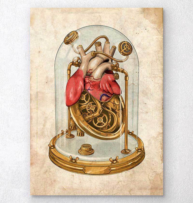 Steampunk heart art