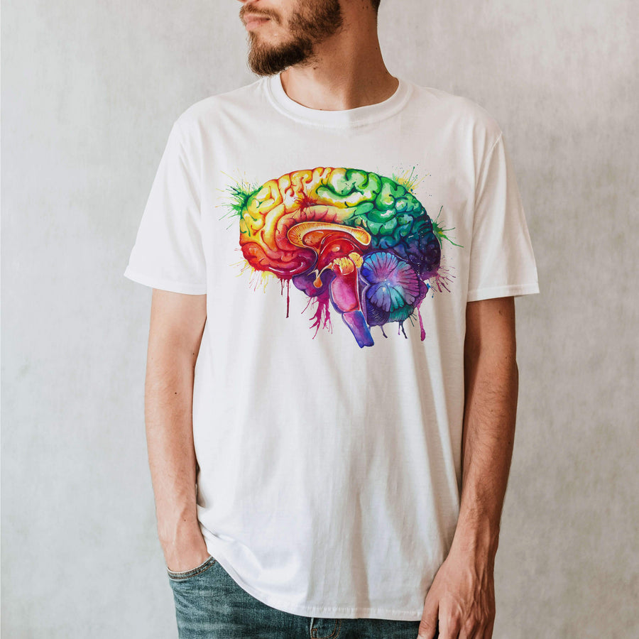 Brain anatomy t-shirt for men by codex anatomicus
