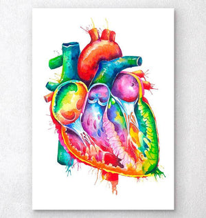 Anatomical heart art
