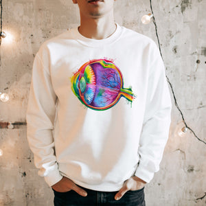 watercolor eye anatomy sweatshirt for doctors by codex anatomicus