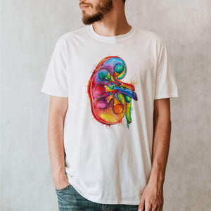 kidney anatomy t-shirt for men by codex anatomicus
