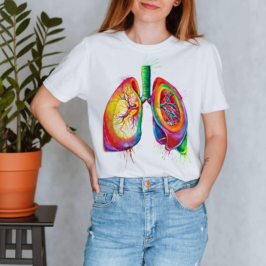 lungs anatomy t-shirt for women by codex anatomicus