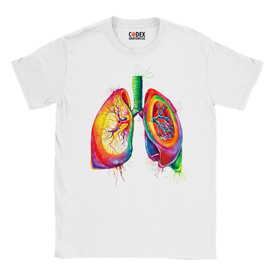 lungs anatomy t-shirt for doctors and medical students by codex anatomicus