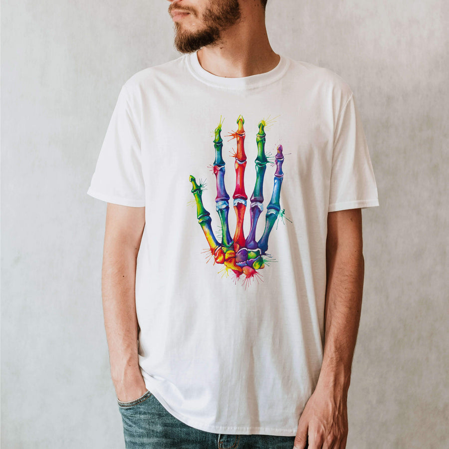 Hand anatomy t-shirt for men by codex anatomicus