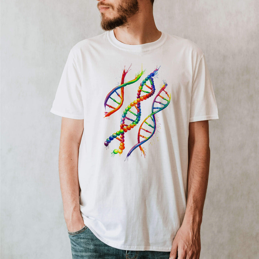 DNA anatomy t-shirt for men by codex anatomicus