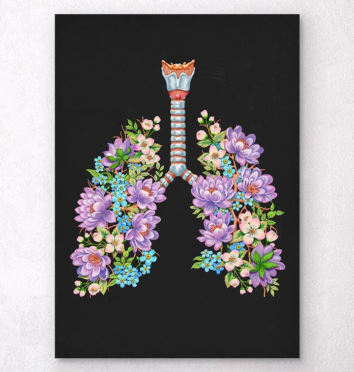 Lungs with flowers