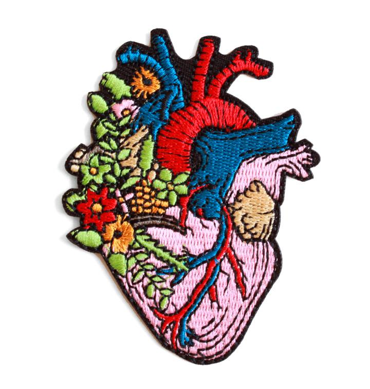 Heart patch - iron on, 65mm