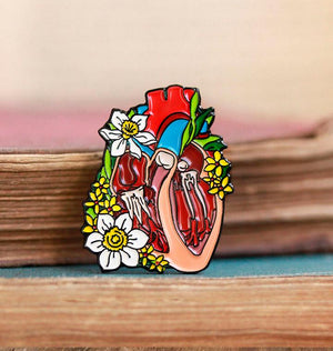 Dissected heart pin