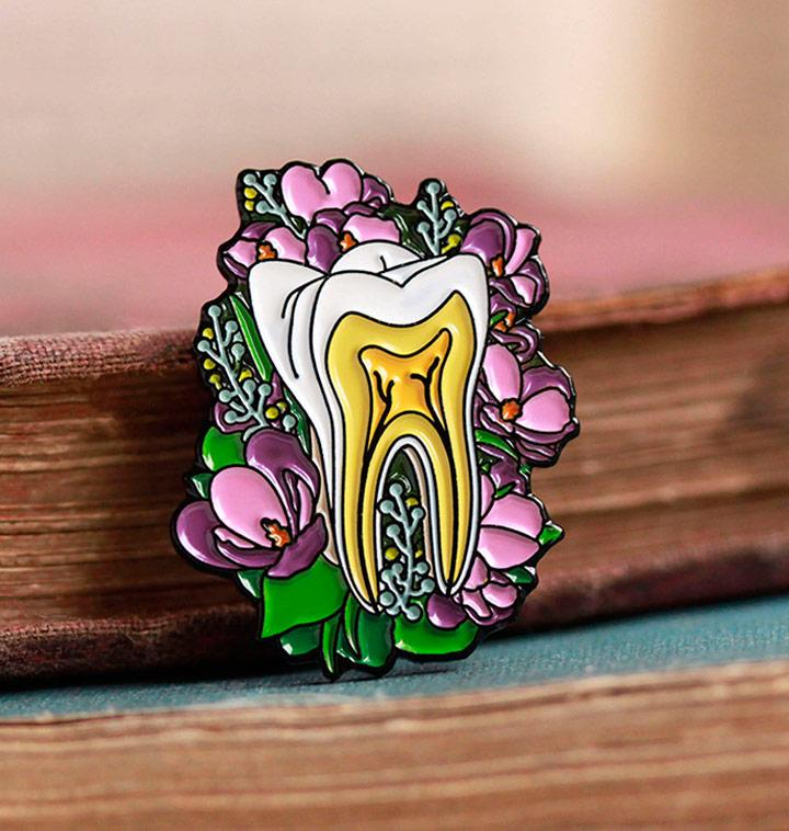 Tooth pin - gift for dentist