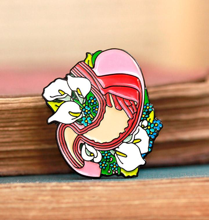 Anatomical stomach pin
