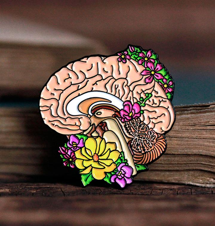 Brain anatomy pin