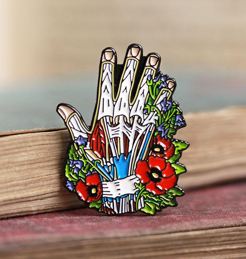 Hand anatomy pin