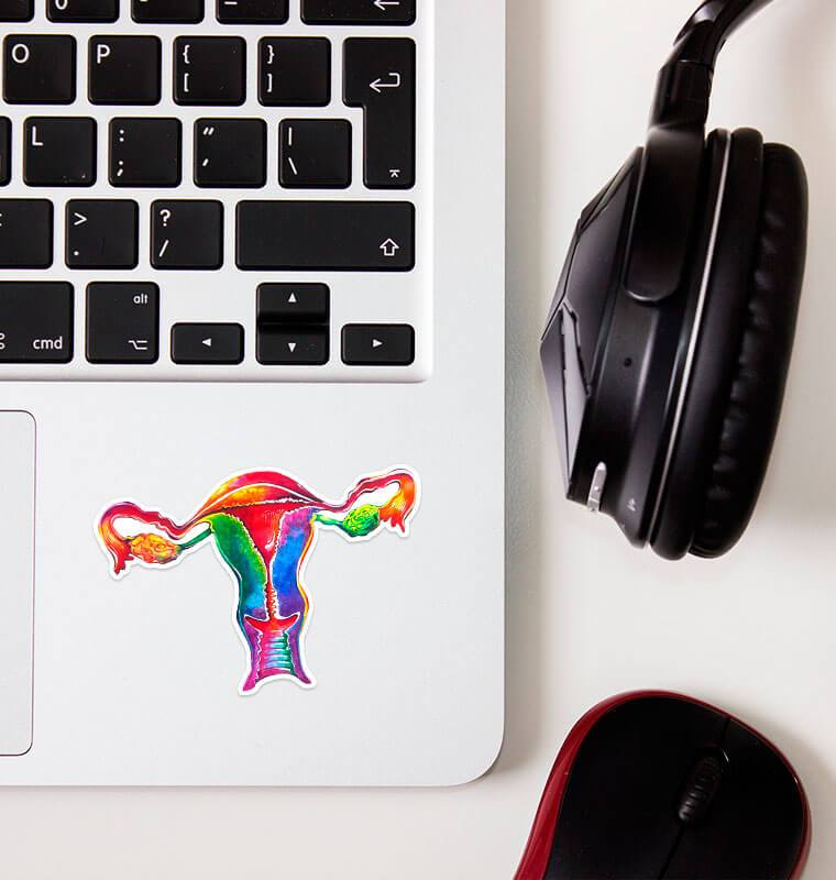watercolor uterus sticker by codex anatomicus