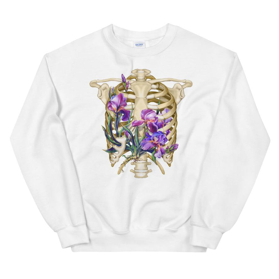 Sweat Unisexe Cage Thoracique - Floral