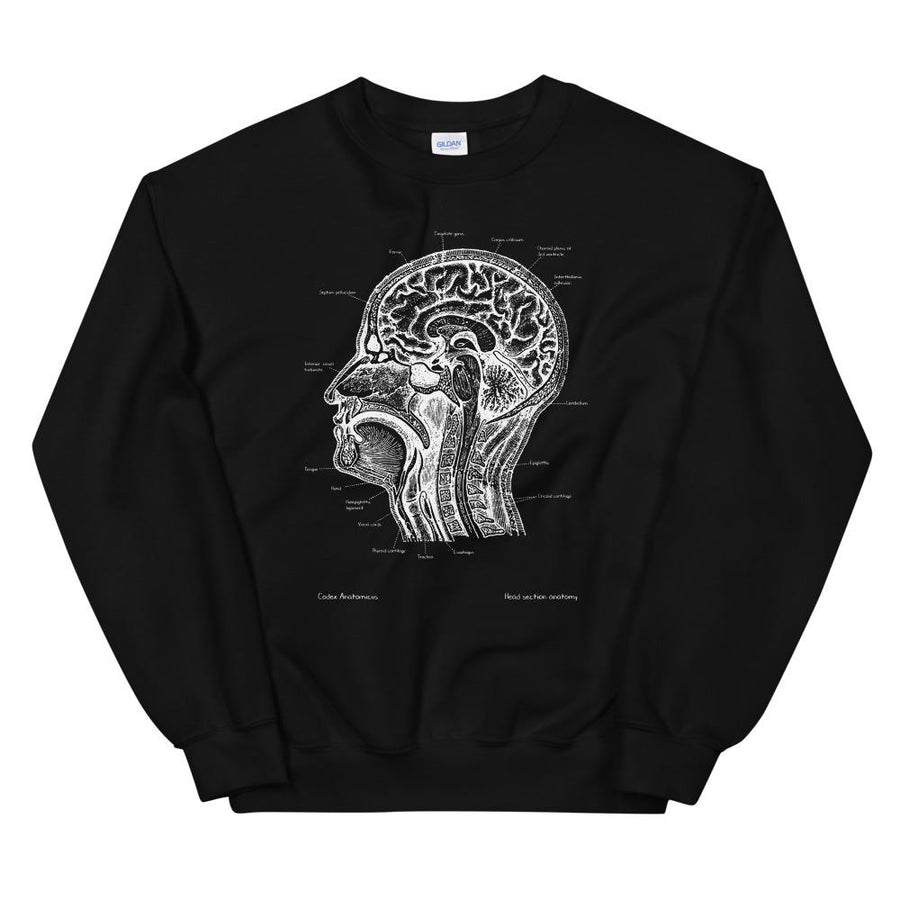 Head section Unisex Sweatshirt - Chalkboard