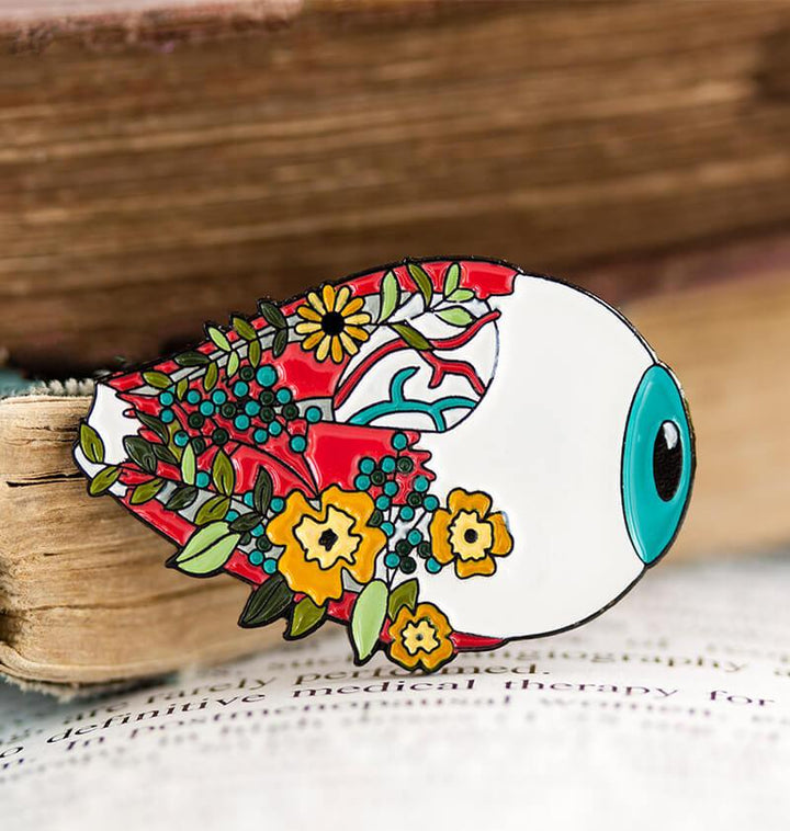 anatomical eye enamel pin